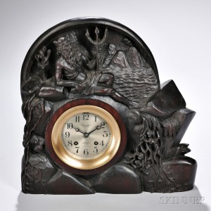 Carved Walnut-cased 'Neptune Chelsea' Ship's Bell Clock (Lot 1214, Estimate $4,000-$6,000)