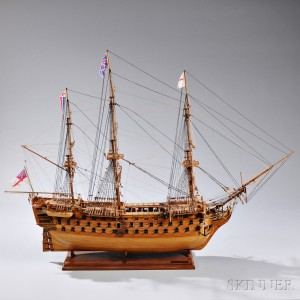 Wooden Model of the HMS Victory, Jim Martin, 1990 (Lot 1316, Estimate $1,000-$1,500)