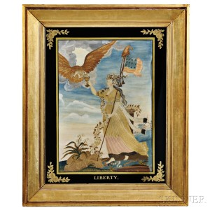 Needlework Picture After Edward Savage 'Liberty in the Form of the Goddess of Youth,' America, early 19th century (Lot 160, Estimate $15,000-25,000)
