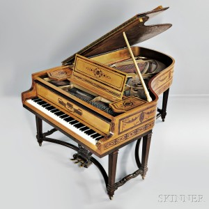 Late Victorian Steinway Marquetry Model B Piano, c. 1890 (Lot 512, Estimate $10,000-$20,000)