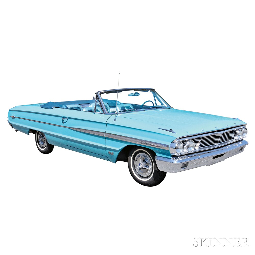 1964 Ford Galaxie Convertible (Lot 7, Estimate $18,000-$20,000)