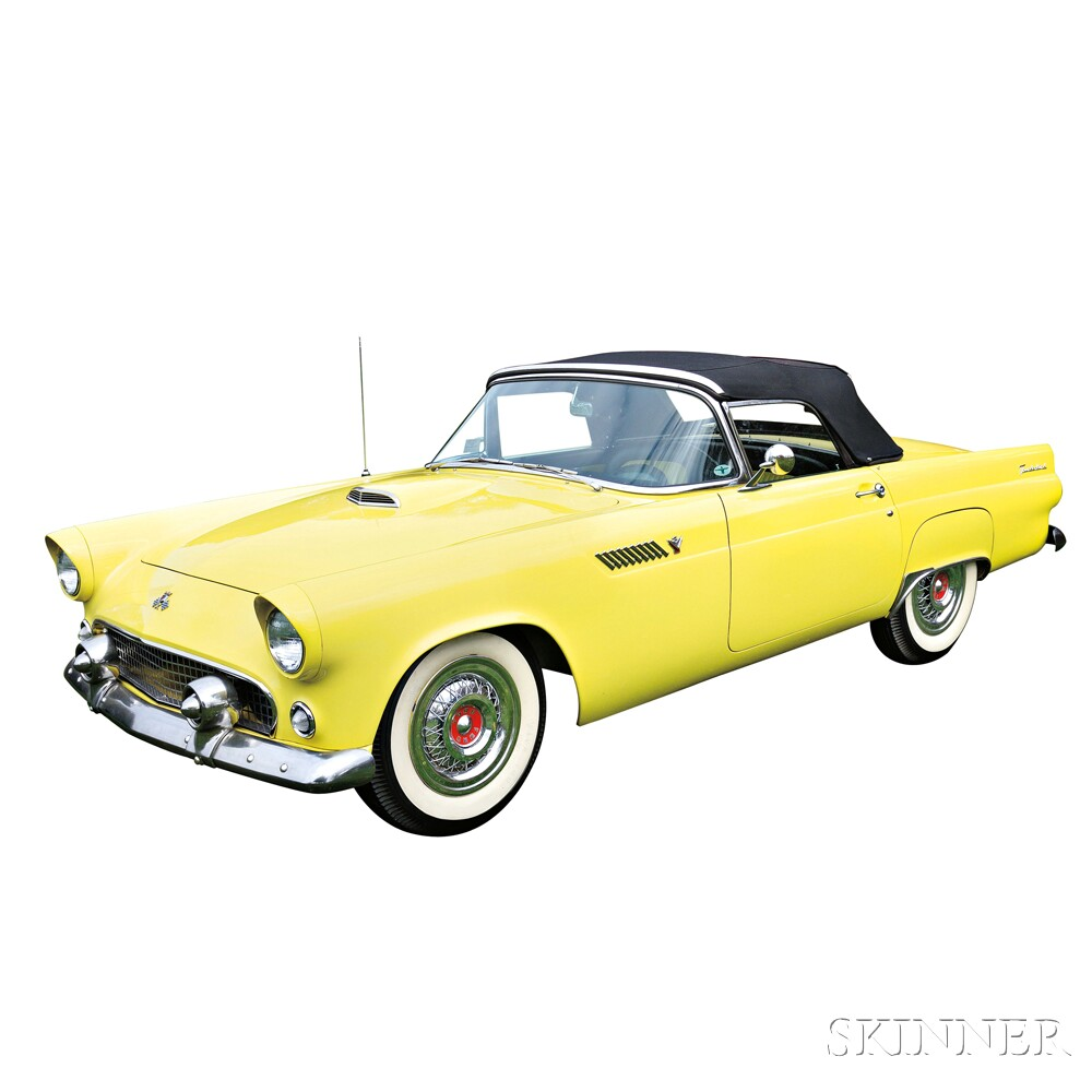 1955 Ford Thunderbird Convertible (Lot 6, Estimate $28,000-$32,000)