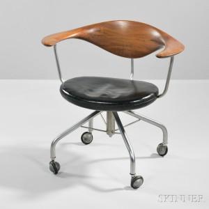 Hans Wegner (1914-2007) Swivel Desk Chair, Denmark, c. 1955 (Lot 331, Estimate $10,000-$15,000)
