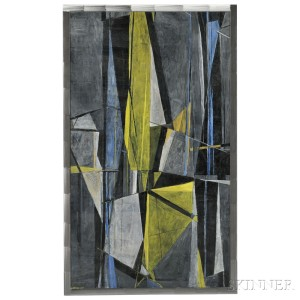 Robert Fremont Conover (American, 1920-1998)   Night Shapes, 1949 (Lot 321, Estimate $10,000-$12,000)