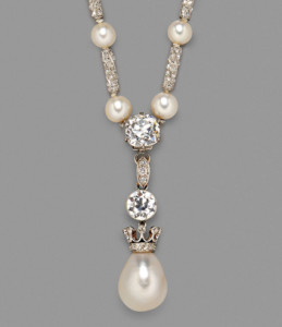 Edwardian Natural Pearl and Diamond Necklace (Estimate $80,000-$100,000)