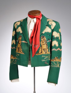 Stage worn Nudie Suit from the Estate of Little Jimmy Dickens. To be offered at auction in the fall of 2016.
