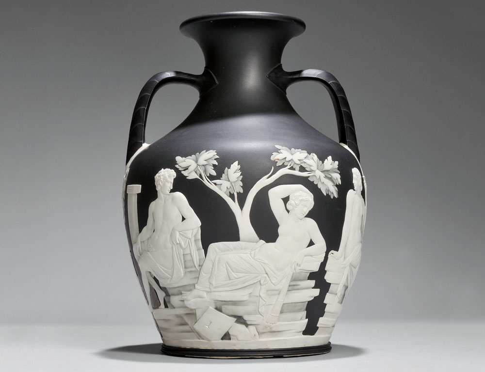 Wedgwood Numbered First Edition Copy of the Portland Vase, England, 18th century (Estimate $40,000-$60,000)