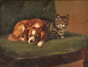 John Henry Dolph (American, 1835-1903) Best Friends (Lot 267, Estimate $1,000-$1,500)
