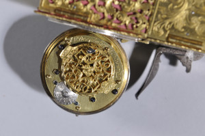 Flintlock Alarm Candle Clock, c. 1745 (Lot 547, Estimate $20,000-$40,000)