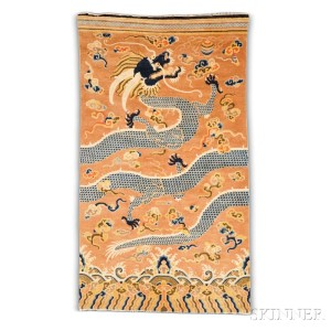 Pillar Carpet, Western China, early 19th century (Lot 92, Estimate: $1,500-2,000)
