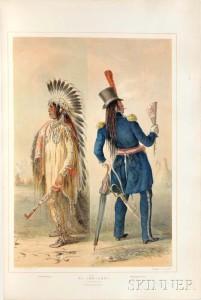 Catlin, George (1796-1873) [Catlin's North American Indian Portfolio.] London: Chatto & Windus, 1875 (Lot 202, Estimate: $40,000-60,000)