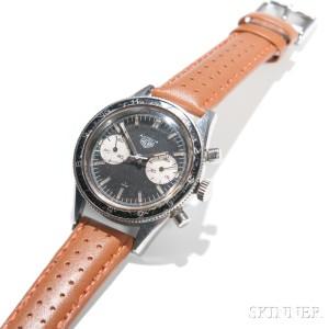 Heuer Autavia 'Andretti' Ref. 3646 Chronograph Wristwatch, late 1960s (Lot 2515, Estimate $3,000-5,000)