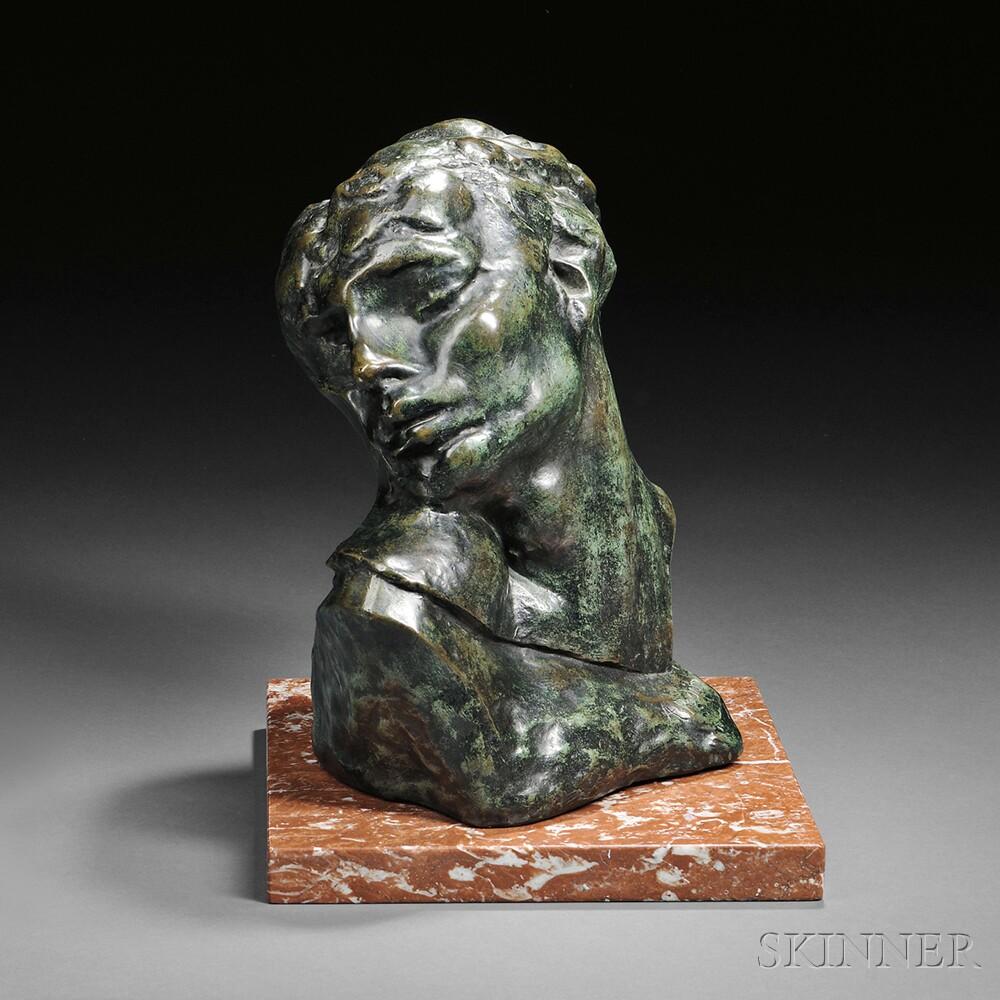"Auguste Rodin (French, 1840-1917) Tête de la Luxure, a later casting Signed ""A. Rodin"" (Lot 354, Estimate: $18,000-22,000)"