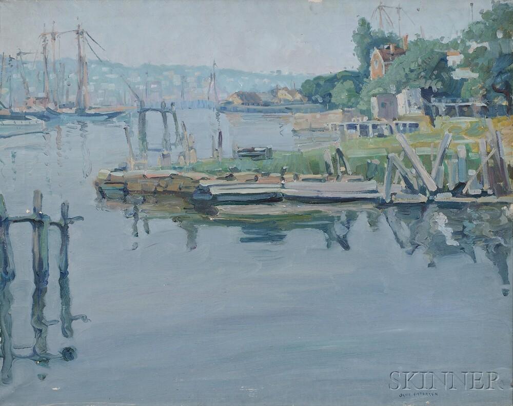 Jane Peterson (American, 1876-1965) North Shore Harbor View (Lot 320, Estimate: $40,000-60,000)