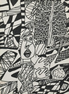 J. Jean Dubuffet (French, 1901-1985) Situation LXXXXI (a l'arbre) (Lot 425, Estimate: $35,000-55,000)