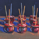 Wayne Thiebaud (American, b. 1920)  Candy Apples, 1987