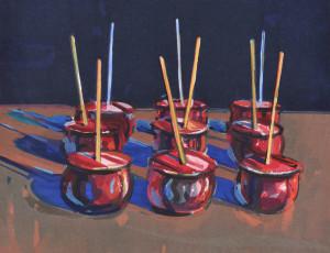 Wayne Thiebaud (American, b. 1920) Candy Apples, 1987