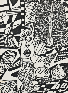 J. Jean Dubuffet (French, 1901-1985) Situation LXXXXI (Lot 425, Estimate: $35,000-55,000)