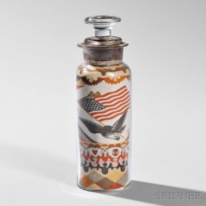 Andrew Clemens Sand Art Bottle with Eagle and Flag, McGregor, Iowa, c. 1890 (Lot 747, Estimate $8,000-12,000)