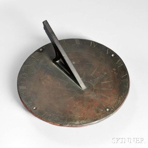 18th Century Philadelphia Sundial by Captain Daniel Joy, made for James Pemberton, c. 1764 (Lot 960, Estimate: $3,000-5,000)