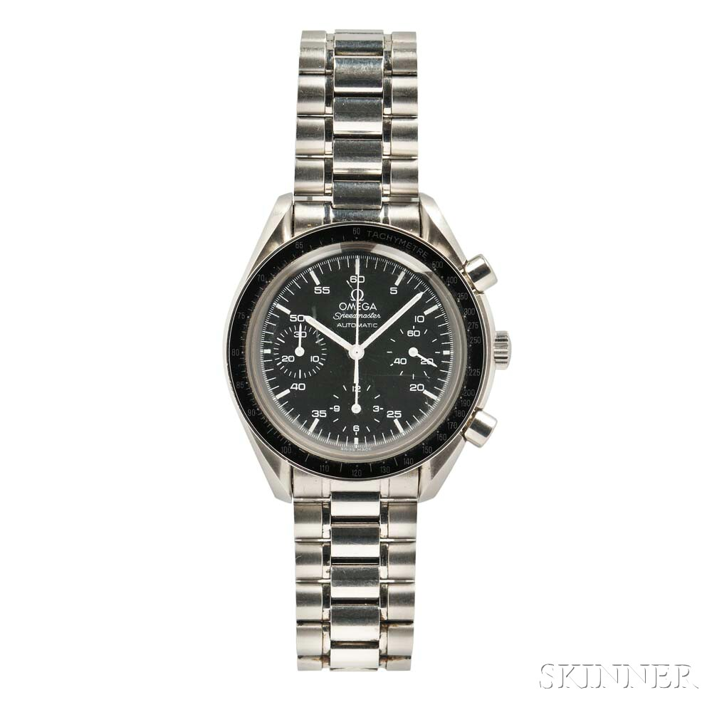 Omega Speedmaster Automatic Chronograph Watch (Lot 954, Estimate: $2,000-2,500)