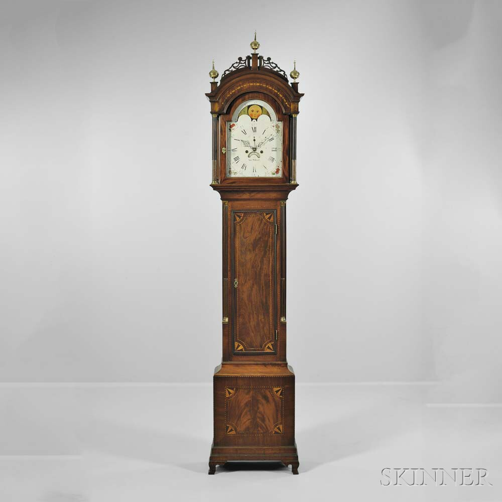 Simon Willard Tall Clock, with Mahogany Case Attributed to Stephen Badlam, Roxbury, Massachusetts, c. 1790 (Lot 726, Estimate: $20,000-40,000)