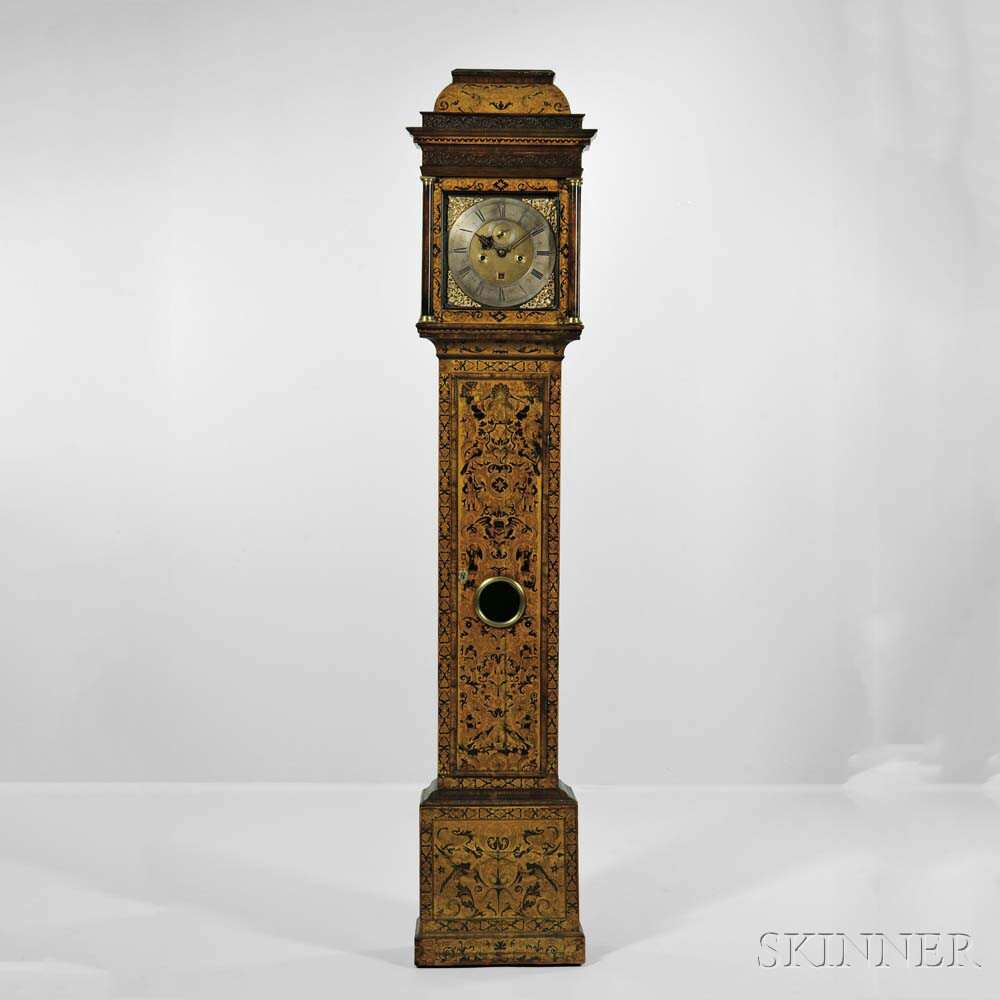 Michael Knight Thirty-day Seaweed Marquetry Longcase Clock, London, c. 1700 (Lot 605, Estimate: $15,000 - 25,000)