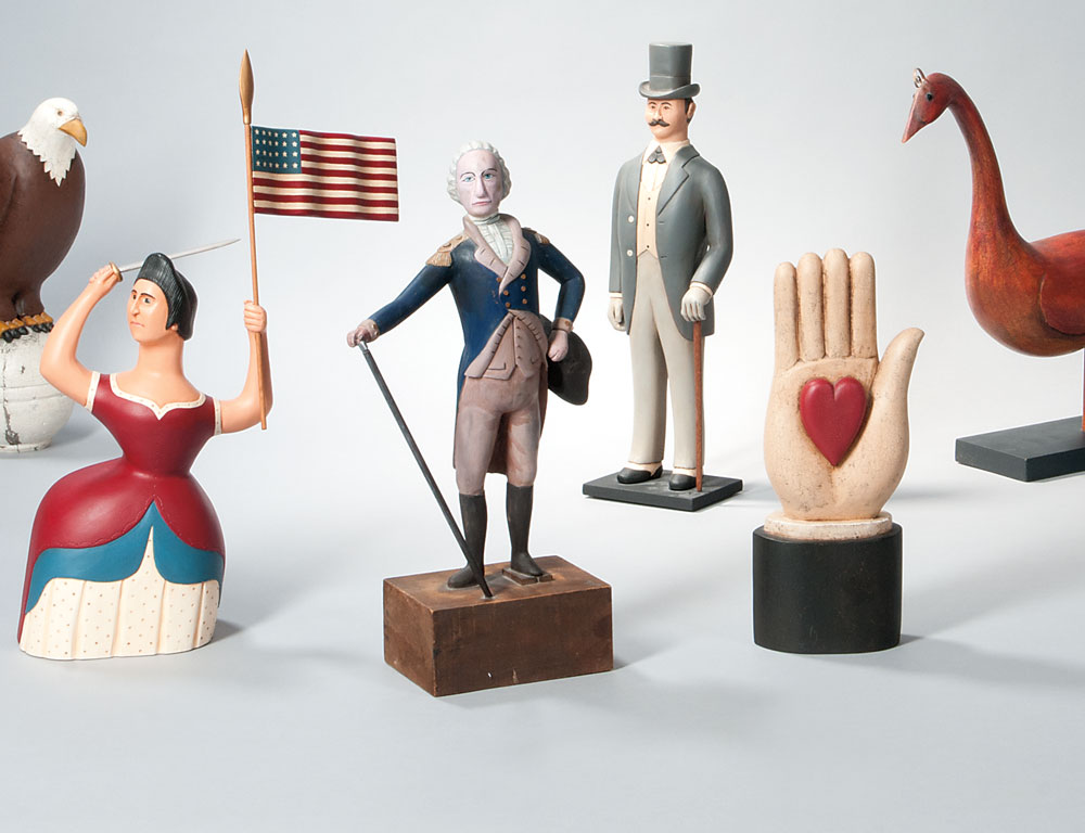 Selection of Contemporary Folk Art Figures