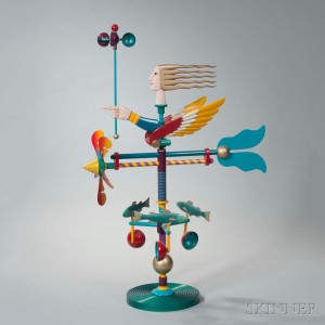 James Eaton Polychrome Metal Weathervane Sculpture, America, 2002 (Lot 4, Estimate: $800-1,200)