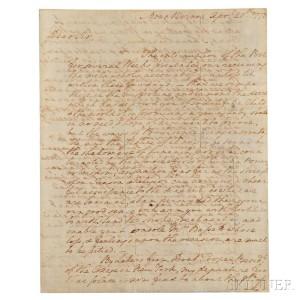 Washington, George (1732-1799) Autograph Letter Signed, Mount Vernon, 20 April 1773 (Lot 2, Estimate: $20,000-25,000)
