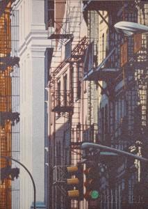 Hsiang-Ning Han (Chinese, b. 1939)   Street View, Soho  (Lot 453, Estimate $4,000-$6,000)
