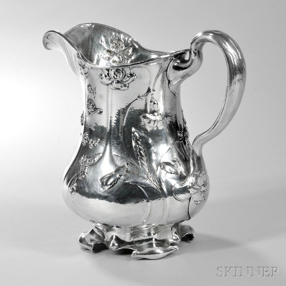 Gorham Martelé .9584 Silver Pitcher, Providence, c. 1907 (Lot 99, Estimate: $7,000-9,000)