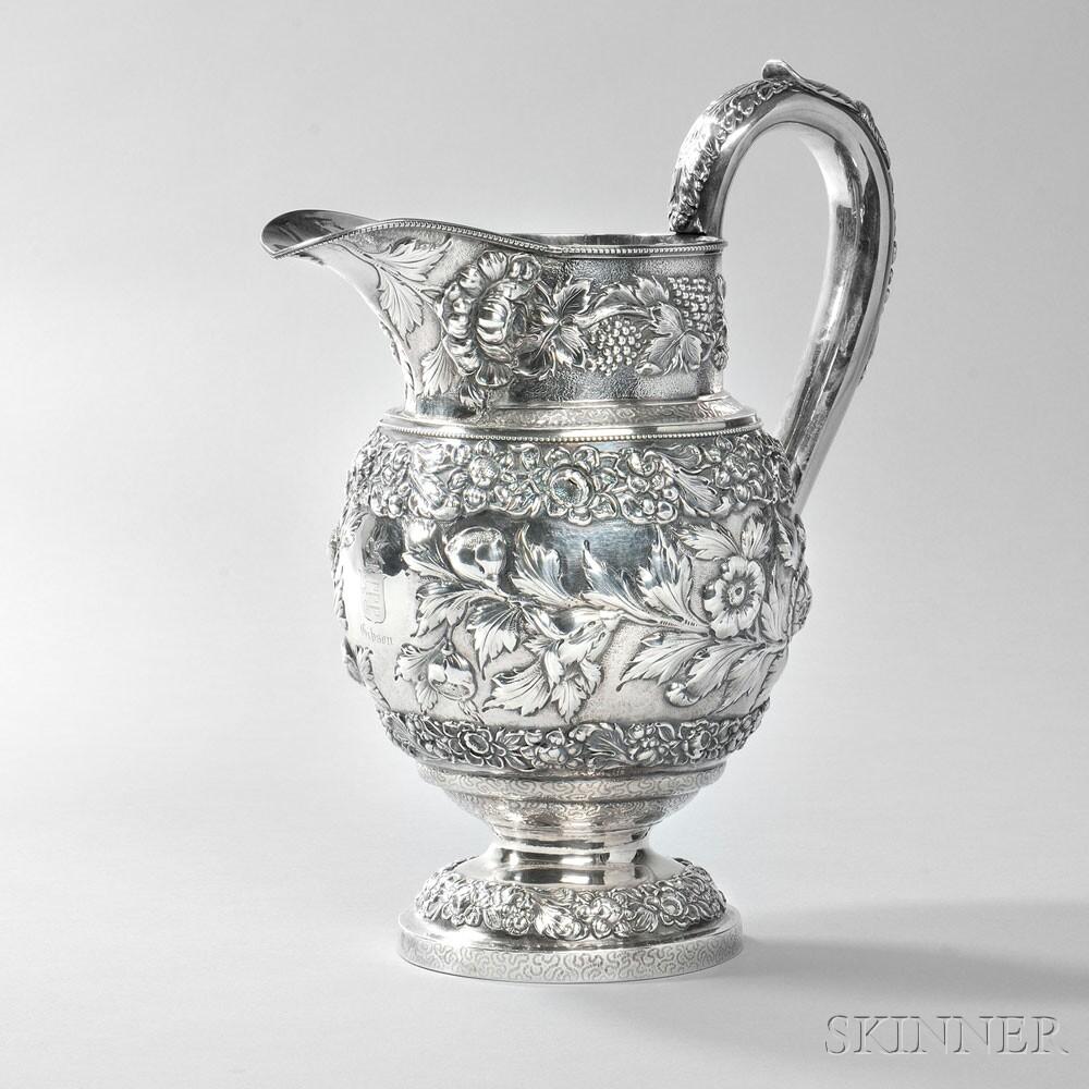 Samuel Kirk .917 Silver Pitcher, Baltimore, c. 1824 (Lot 80, Estimate: $2,000-3,000)