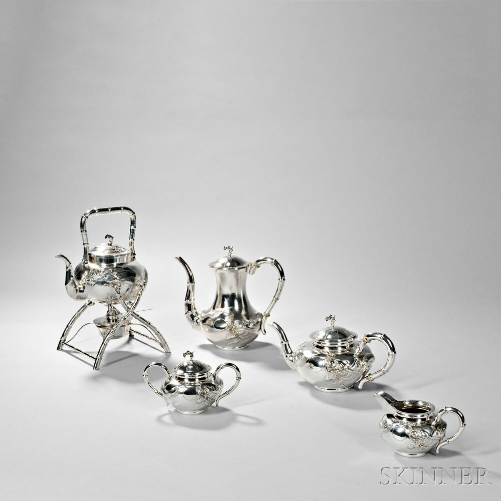 Chinese Export Silver Kettle-on-Stand, late 19th/early 20th century (Lot 62, Estimate: $1,500-2,500)