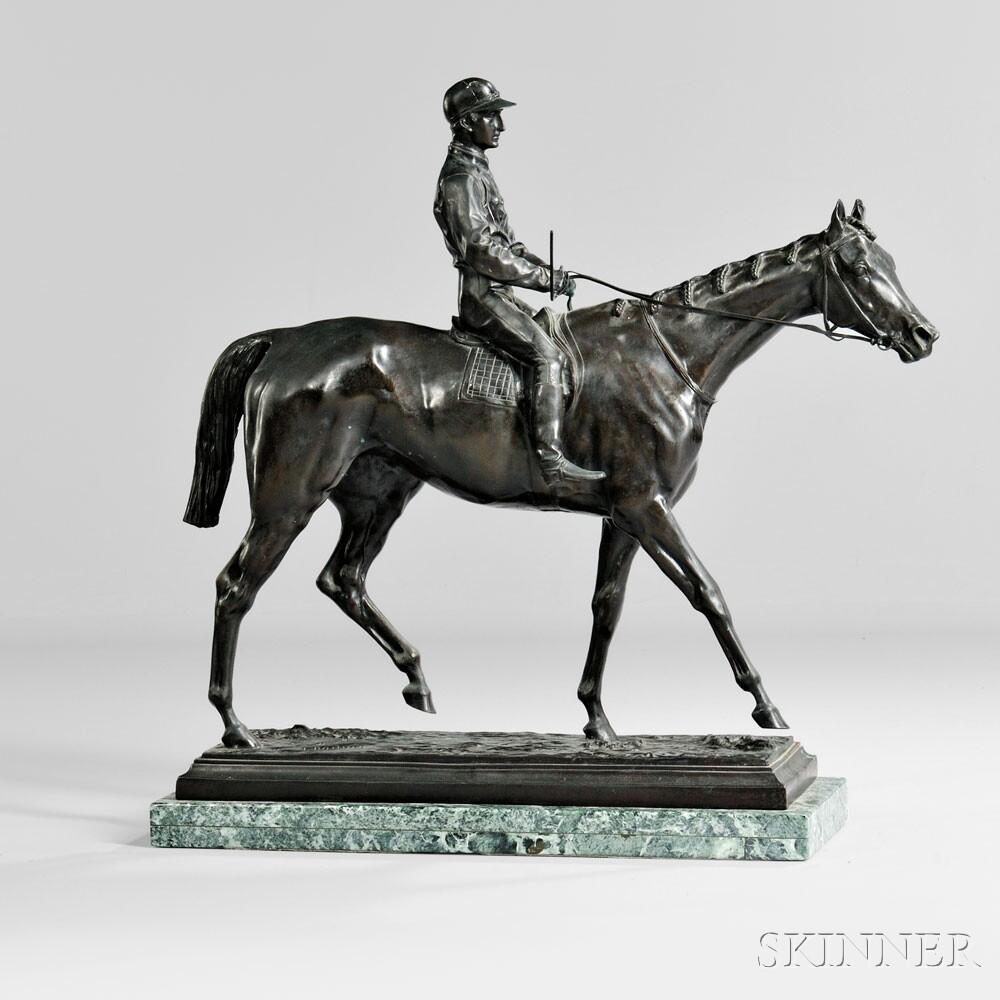 Bronze Jockey and Horse (Lot 801, Estimate: $1,000-1,500)