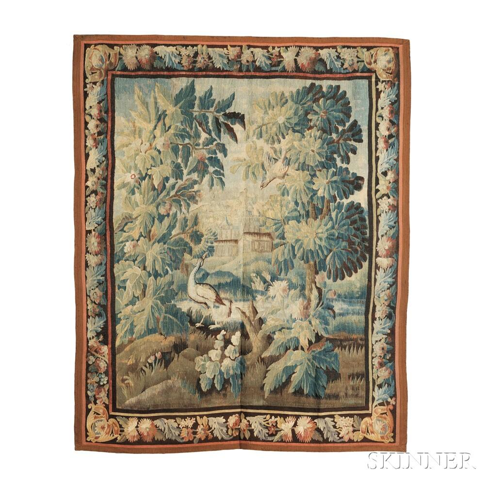 Aubusson Tapestry (Lot 536, Estimate: $1,200 - 1,800)