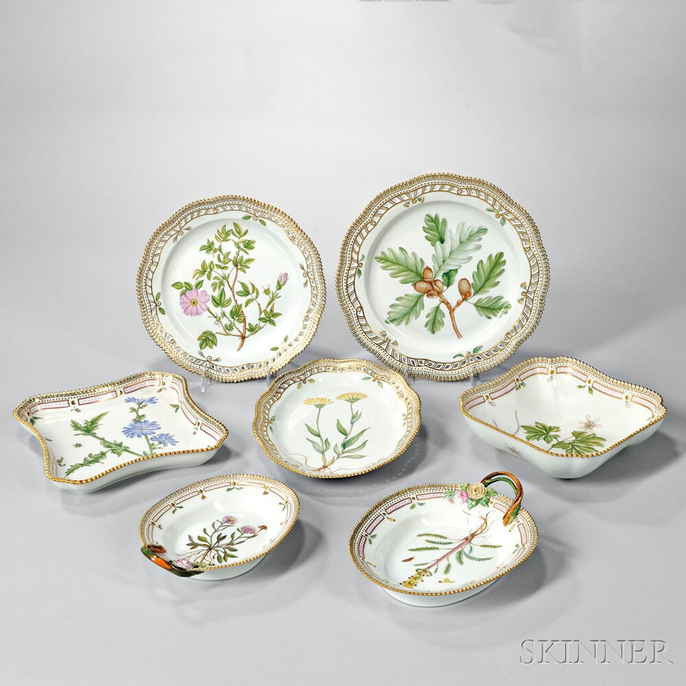 Selection of over 30 lot of Royal Copenhagen Flora Danica Porcelain