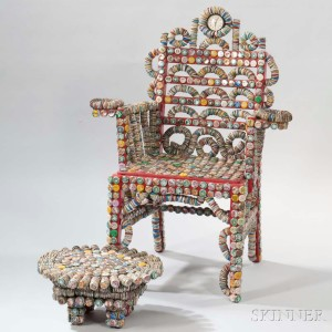 bottle cap furniture. rick ladd bottle cap chair and footstool caps painted wood glass furniture