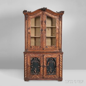 Adirondack Bookcase on Chest, New York, early 20th century (Lot 1015, Estimate: $6,000-8,000)