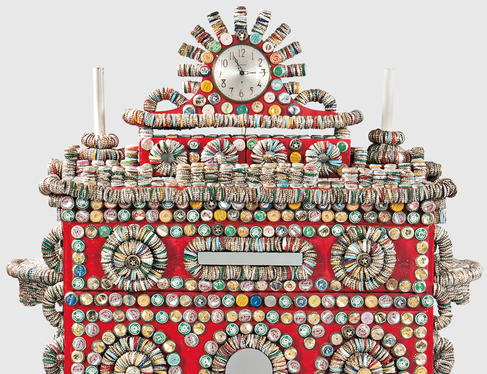 Rick Ladd Bottle Cap Chest of Drawers, Brooklyn, New York, 1991 (Lot 1133, Estimate $1,500-2,500)