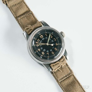 Type A-17 Air Force Watch, Waltham Watch Co., Waltham, Massachusetts, c. 1950 (Lot 1077, Estimate: $60-80)