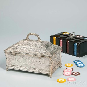 Silver-plate Poker Chest (Lot 1037, Estimate: $1,200-1,500)