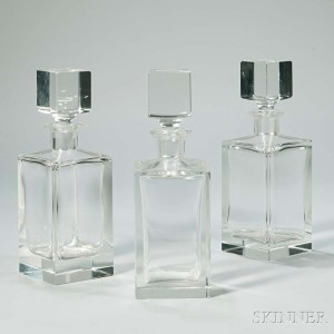 Set of Three Decanters, 20th century (Lot 1002, Estimate: $75-125)