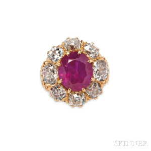 18kt Gold, Ruby, and Diamond Ring (Lot 454, Estimate: $100,000-150,000)