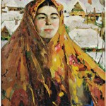 Filip Malyavin (Russian, 1869-1940) Baba or Baba, Winter (Estimate: $75,000-125,000)