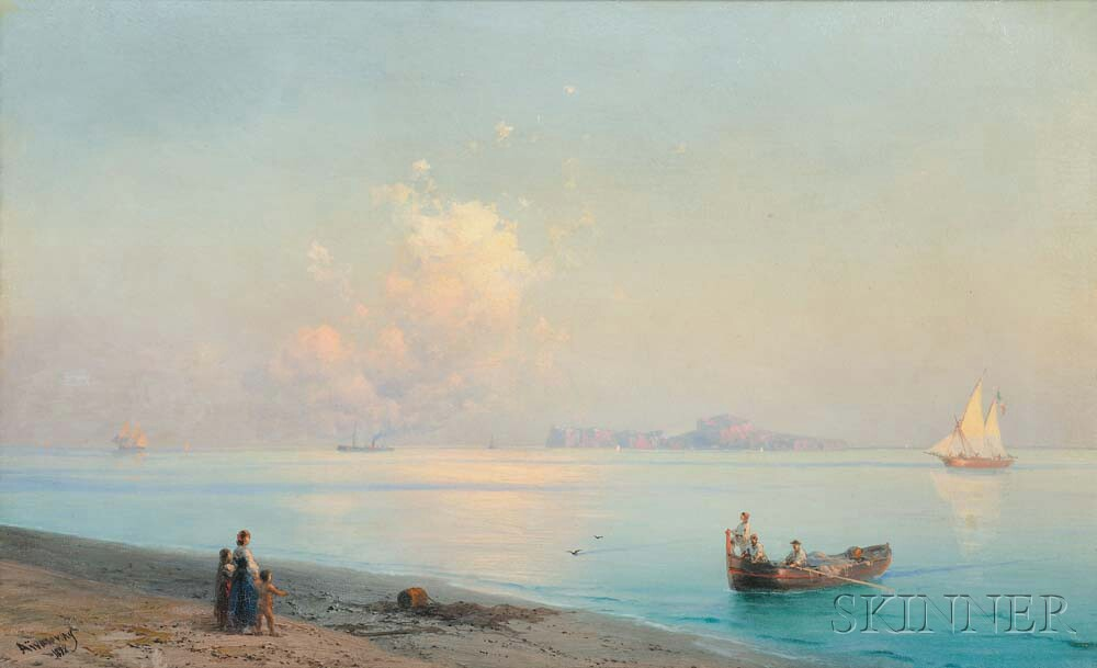 Ivan Konstantinovich Aivazovsky (Russian, 1817-1900) Along the Coast, Capri (Lot 265, Estimate: $130,000-190,000)