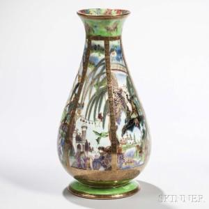Wedgwood Fairyland Lustre Pillar Vase, England, c. 1925 (Lot 90, Estimate: $2,000-3,000)