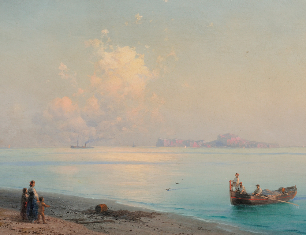 [DETAIL] Ivan Konstantinovich Aivazovsky (Russian, 1817-1900)  Along the Coast, Capri (Estimate $130,000-190,000)
