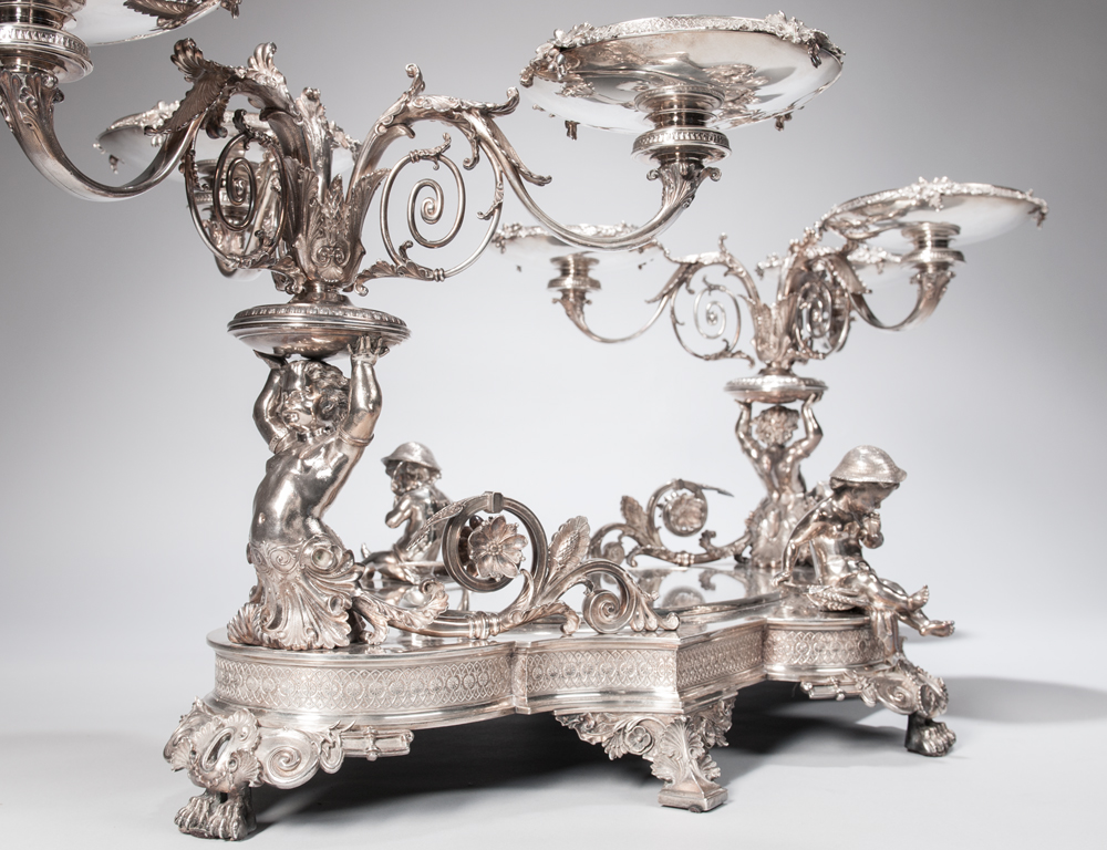 An Important Tiffany & Co. Sterling Silver Centerpiece, c. 1870  (Estimate $100,000-150,000)