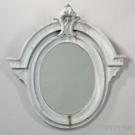 Painted Ocular-style Zinc Mirror (Lot 1290, Estimate: $400-600)